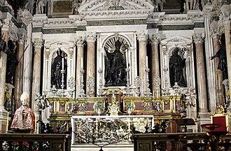 Royal Chapel of the Treasure of St. Januarius - View of interior towards the altar
