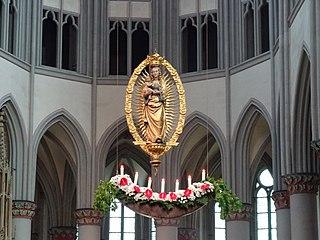 Nun, Brüder, sind wir frohgemut 1935 pilgrimage and Marian hymn