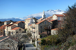 Altiani - Altiani village, with Monte Cardo in the background