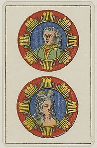 Aluette card deck - Grimaud - 1858-1890 - Two of Coins.jpg