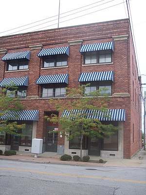 National Register of Historic Places listings in Lorain County, Ohio - Image: American Felsol Co. Bldg on West 9th Street (now home to Planned Parenthood)