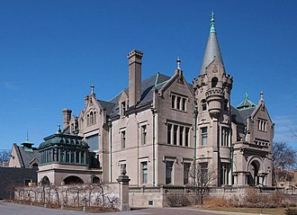 American Swedish Institute - The Swan Turnblad House viewed from the southeast