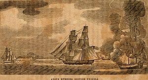 USS Argus (1803) - Image: American naval battles; (1837) (14741132336)