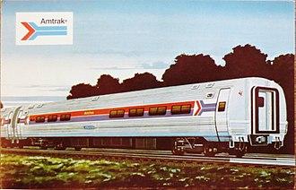 Amfleet - Mid-1970s postcard advertising the then-new Amfleet cars
