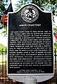 Amos Cemetery Historical Marker - Historic Black Cemetery (Kohrville, TX).jpg