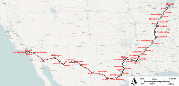 Texas Eagle Wikipedia - Amtrak map of routes in us