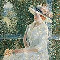 An Outdoor Portrait of Miss Weir by Childe Hassam, 1909.jpg