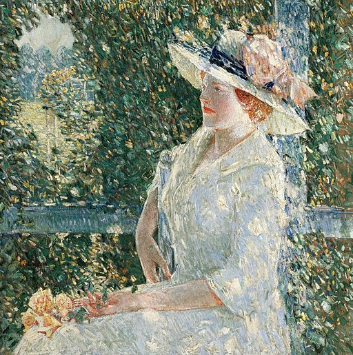 """""""An Outdoor Portrait of Miss Weir"""" by Childe Hassam"""