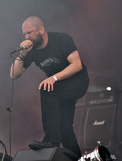 "Anaal Nathrakh, Dave ""V.I.T.R.I.O.L."" Hunt at Party.San Metal Open Air 2013 07.jpg"
