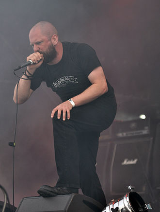Anaal Nathrakh - Dave Hunt playing for the band in 2013.