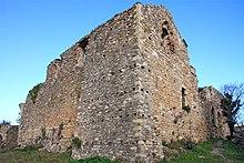 Il castello di Andora presso l'omonima borgata