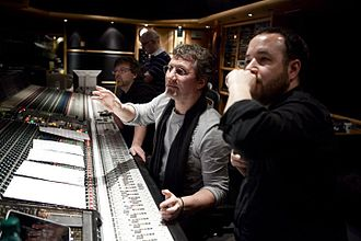 Andy Richards - Image: Andy Richards, Mike Higham, Derek Frey and Ric Levy at Air Studios, 2011