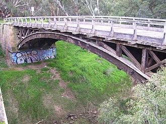 Gawler River (South Australia) - Image: Angle Vale Bridge South Australia