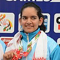 Anjum Moudgil of India won Gold in Women's 50m Rifle Shooting, at the 12th South Asian Games-2016, in Guwahati (cropped).jpg