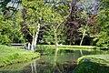 Annevoie - Province de Namur - Jardins d' eau d' Annevoie - Teichanlage und Angler - P1010321 03.jpg