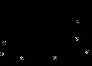 Acetogenin - Chemical structure of annonacin