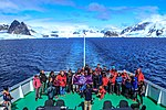 Another spectacular cruise northward along the NW coast of the Antarctic Peninsula.what are we commemorating here?.maybe the 7th continent. (25988140186).jpg