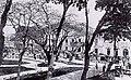 Antigua Plaza Real (luego llamada Plaza Mayor, y ahora Plaza Degetau), en Ponce, Puerto Rico, mirando al sureste desde la Calle Unión.jpg