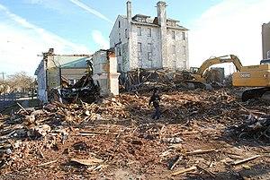 Metropolitan Hotel (Asbury Park) - Demolition of The Metropolitan Hotel in 2009.
