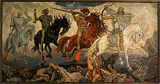 Four Horsemen of the Apocalypse (painting) - Study