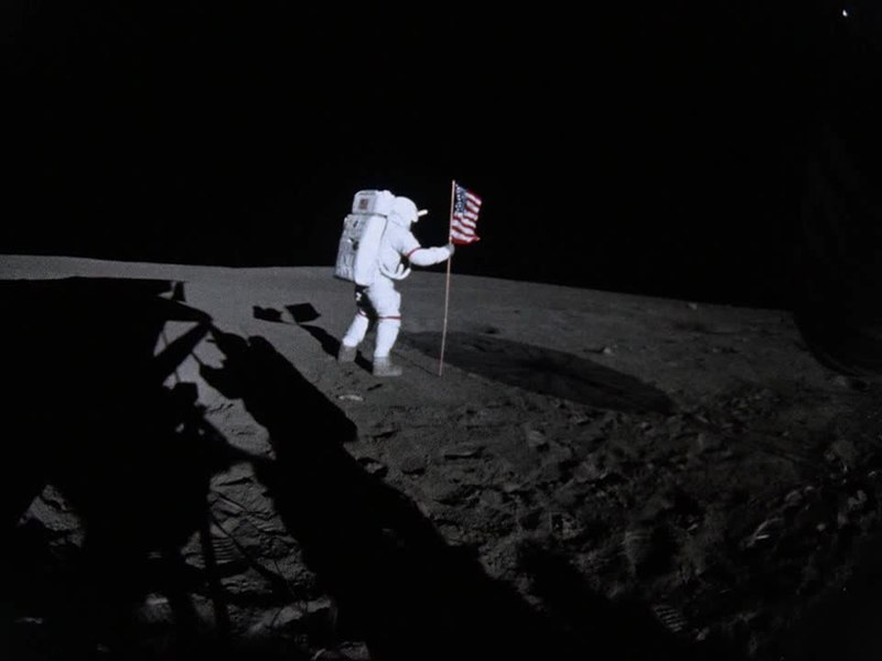 astronauts jumping on the moon - photo #28