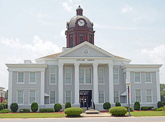 National Register of Historic Places listings in Appling County, Georgia - Image: Appling County Courthouse, Baxley, GA, US
