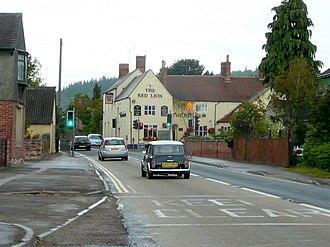 Huntley, Gloucestershire - Image: Approaching Huntley crossroads geograph.org.uk 2558804