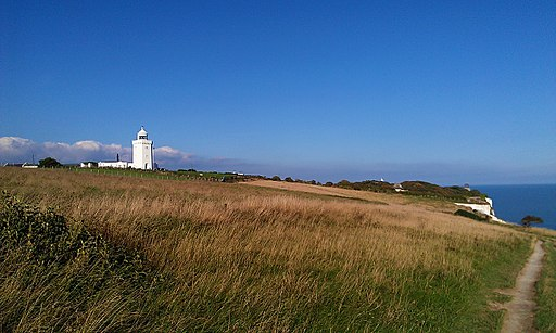 Approaching South Foreland Lighthouse from Dover