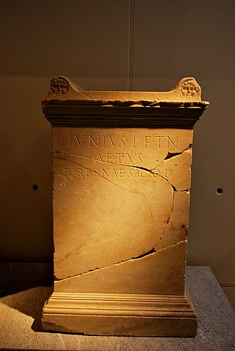 Glossary of ancient Roman religion - Altar (ara) from Roman Spain