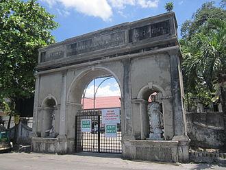 Taguig Church - Arched entrance to St. Anne Parish Church