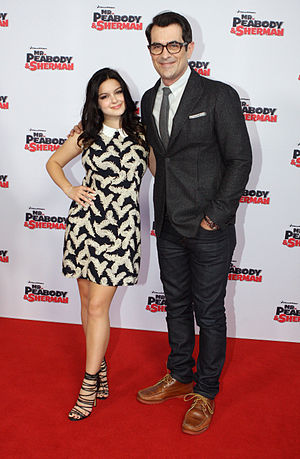 Mr. Peabody & Sherman - Ariel Winter and Ty Burrell at the film's Australian premiere in Sydney.