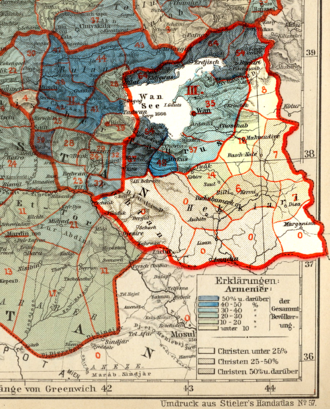 Van Vilayet - Armenian population of Van province in 1896.