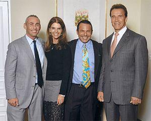 Don Korotsky Norte - Don Norte, Maria Shriver, Kevin Norte, and Governor Arnold Schwarzenegger at the Hotel Bel Air in 2006.