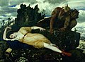 Arnold Böcklin - Sleeping Diana Watched by Two Fauns - Google Art Project.jpg
