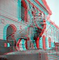 Art Institute of Chicago Lion Statue (anaglyph stereo).jpg