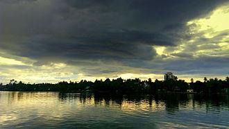 Geography of Kollam - Ashtamudi Lake view from Asramam Adventure Park
