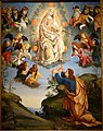 Assumption of the Virgin with St. Thomas (Madonna della Cintola), by the Master of the Lathrop Tondo, 1475-1500, oil and tempera on wood - John and Mable Ringling Museum of Art - Sarasota, FL - DSC00557.jpg