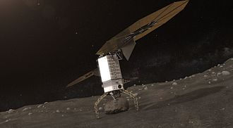 Asteroid Redirect Mission - Grippers on the end of the robotic arms are used to grasp and secure a boulder from a large asteroid. Once the boulder is secured, the legs will push off and provide an initial ascent without the use of thrusters.
