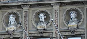 Ateneum - Busts of Raphael, Phidias, and Bramante