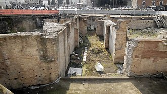 Athenaeum (ancient Rome) - Excavations of the Athenaeum: View of the corridor between the central and the south hall.