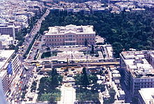 Vue d'ensemble de la place Syntagma