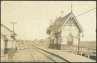 Ramara - GTR Atherley Junction Railway station in Atherley, 1910
