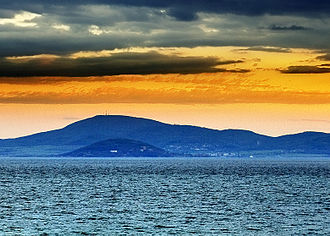 Antheia (Thrace) - Atia peninsula and the Medni Rid hill behind.