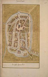 Map of Franeker from the Atlas Schoemaker (c. 1710-1735) Atlas Schoemaker-FRIESLAND-DEEL3-3058-Friesland, Franeker.jpeg