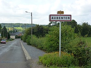 Aubenton - Entrance to the village