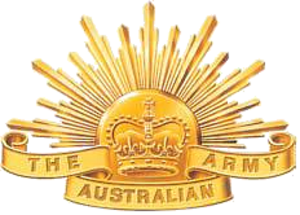 Rising Sun (badge) - Current version of the Australian Army's Rising Sun badge used since 1991.