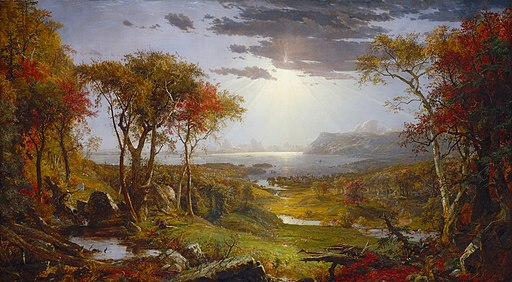 Autumn--On the Hudson River-1860-Jasper Francis Cropsey