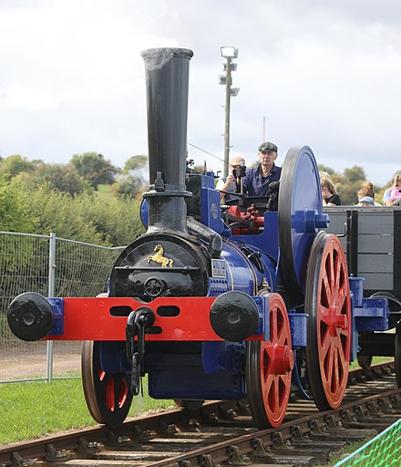 An Aveling and Porter traction engine-based railway locomotive, as used by Holborough Cement Co.