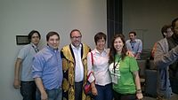 Avner and Darya's wiki Wedding at Wikimania by ovedc 29.jpg