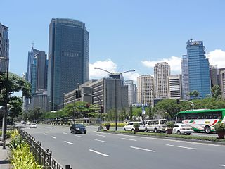 major street in Makati, Philippines